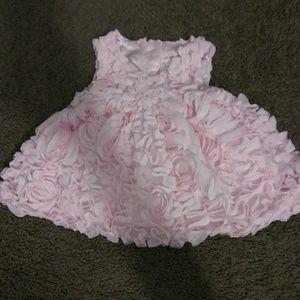 3-6 Month Baby Girl's 3D Mesh Dress